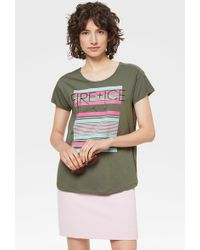 c161d619e Nike Air Cropped T-shirt In Olive in Green - Lyst