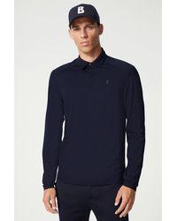 Bogner Timon Long Sleeved Polo Shirt - Blue