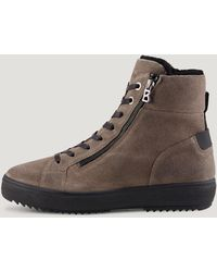 Bogner Anchorage High-top Trainers With Spikes - Brown