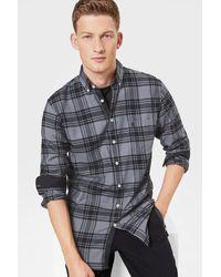 Bogner Timt Shirt In Anthracite/grey-blue Melange - Gray