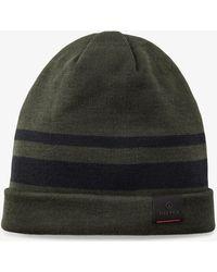 Bogner - Toska Knitted Hat In Olive Green/navy Blue - Lyst