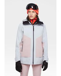 Bogner Fire + Ice Agnes Ski Jacket In Ice Gray/pink - Multicolor