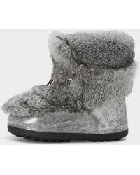 Bogner - Trois Vallées Rabbit Fur Boots In Grey - Lyst