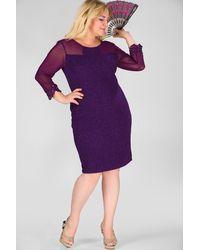 Bold Plus Size Purple Dress