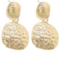 Bold Gold Metal Earrings - Metallic