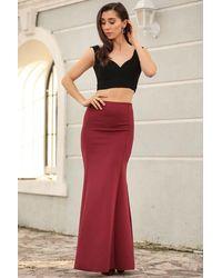 Bold Long Claret Red Skirt