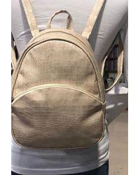 Bold Zipped Powder Rose Stone Backpack - Multicolour