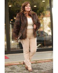 Bold Plus Brown Fur Coat