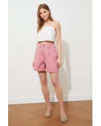 Bold Dusty Rose Bermuda Shorts - Pink