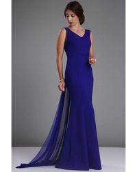 Bold Vavin Elegant Evening Dress - Blue