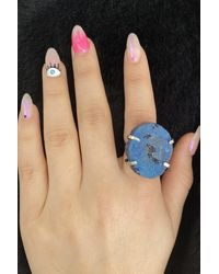Bold Blue Natural Stone Ring