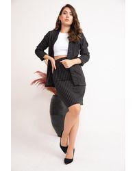 Bold Striped Jacket - Black
