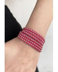Bold Studded Pink Twirl Bracelet