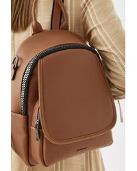 Bold Zipped Ginger Backpack - Brown