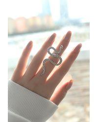 Bold - Snake Figure Adjustable Ring - Lyst