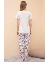Bold Short Sleeve Pyjama Set - Blue
