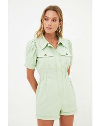 Bold Pocket Detail Mint Green Overall