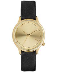 Komono Black & Gold Quartz Watch