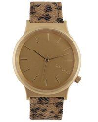 Komono Leopard Print Brown Quartz Watch
