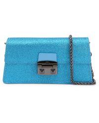 Trussardi Coriandolo Clutch Bag - Blue