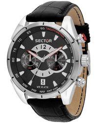 Sector Black Chronograph Quartz Watch