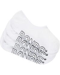 Bonds Logo Light Trainer Socks 4 Pack - White