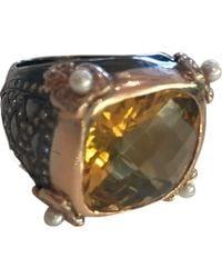 Barry Brinker - 18k Rose Gold Ring W/ Citrine Stone - Lyst