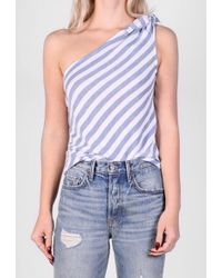 The Lady & The Sailor - One Shoulder Knot Tank - Lyst