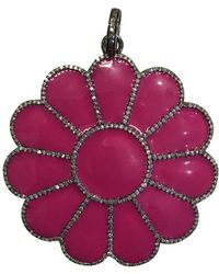 The Woods Jewelry - Pink Flower Pendant - Lyst