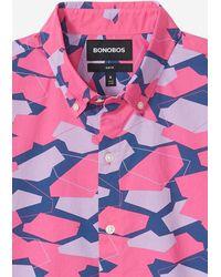 Bonobos Riviera Short Sleeve Shirt Extended Sizes - Pink