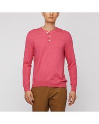 Bonobos - Merino Cotton Henley Sweater - Lyst