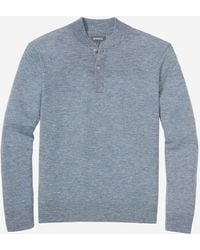 Bonobos Wool Cashmere Henley Sweater - Blue