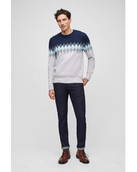 Bonobos Fair Isle Crew Neck Sweater - Blue