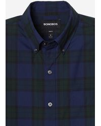 Bonobos Washed Button-down Shirt Extended Sizes - Blue