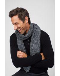 Bonobos Wool Cashmere Waffle Knit Scarf - Gray