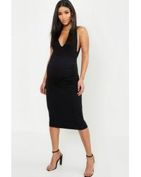 d3ffbb93c6d Lyst - Boohoo Maternity Casey Over The Bump Pencil Skirt in Black