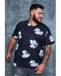 Boohoo - Big And Tall Disney Mickey Print T-shirt - Lyst