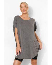 Boohoo Maternity Oversized T-Shirt - Gris