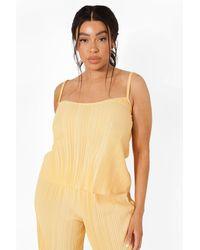 Boohoo Camisola Plisada Plus - Naranja