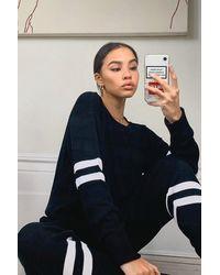 Boohoo Stripe Knitted Tracksuit - Black