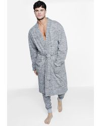 Boohoo - Space Dye Dressing Gown And Jogger Set - Lyst
