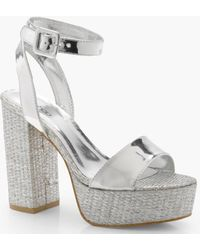 519cc7206d7 Lyst - Vaneli Matilda Women N s Open Toe Leather Sandals in White