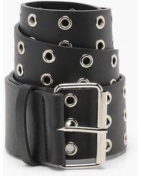 Boohoo - Ava Wide Eyelet Waist Belt - Lyst