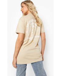 Boohoo Fortune Teller Back Print T Shirt - Natural