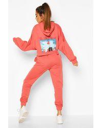 Boohoo Set per il tempo libero Disney Principessa Ariel con cappuccio - Rosa