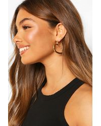 Boohoo Chunky Heart Hoop Earrings - Multicolour