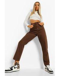 Boohoo Denim Mom Jeans - Brown