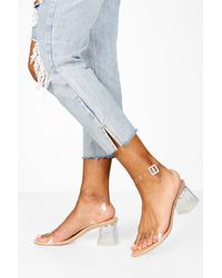 Boohoo Low Clear Barely There Heels - Multicolour