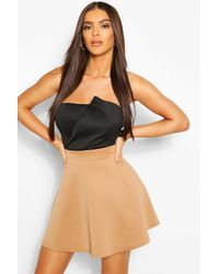 Boohoo Basic Fit And Flare Skater Skirt - Multicolor