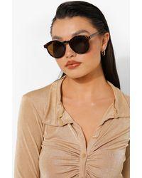 Boohoo Tort Oversized Classic Sunglasses - Marrone